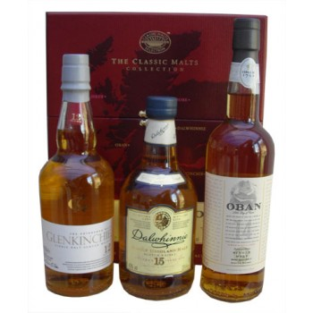 Classic Malts Collection Gentle 3 x 20cl Gift Pack Single Malt Whiskies