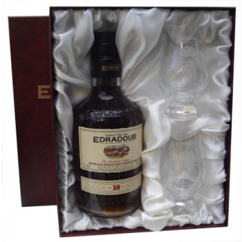 Edradour 10 Year Old With Two Tasting Glasses Single Malt Whisky