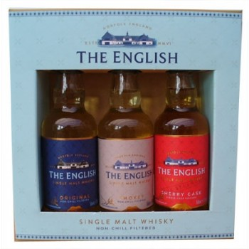 English Whisky Miniature Gift Pack Single Malt Whiskies
