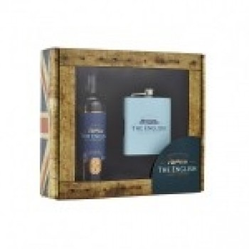 English Whisky 20cl Bottle And Hip Flask Single Malt Whisky