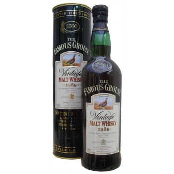 Famous Grouse 1989 12 Year Old Malt Whisky