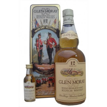 Glen Moray 12 Year Old Highland Light Infantry with Miniature Single Malt Whisky