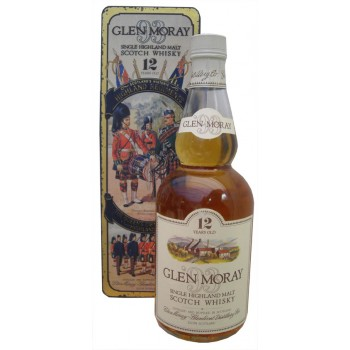 Glen Moray 12 Year Old The Queens Own Cameron Highlanders 93 Tin Single Malt Whisky