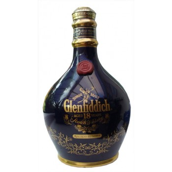 Glenfiddich 18 Year Old Ancient Reserve Blue Ceramic Decanter Single Malt Whisky