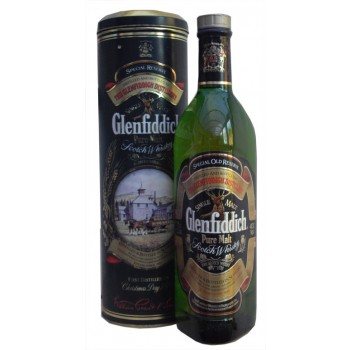 Glenfiddich Pure Malt Old Rare Round Tin Single Malt Whisky