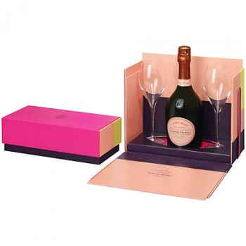 Laurent-Perrier Cuvee Rose With Two Glasses