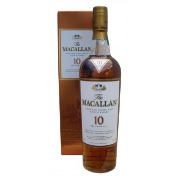 Macallan 10 Year Old Sherry Matured Single Malt Whisky