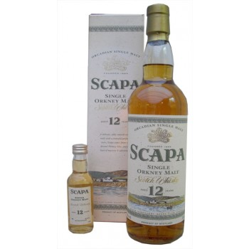 Scapa 12 Year Old 70cl And 5cl Miniature Single Malt Whisky
